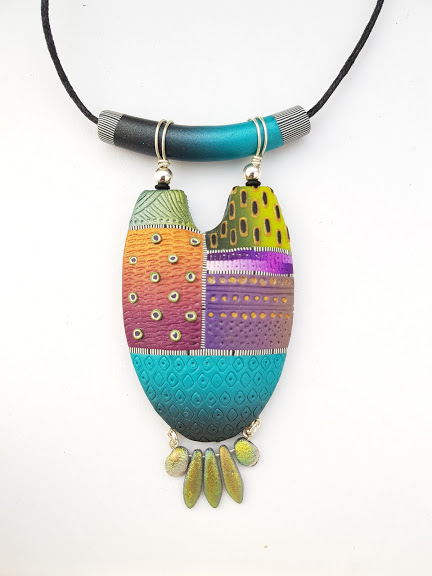 Half Oval Multi-wear Pendant Featuring Dangle Fringe
