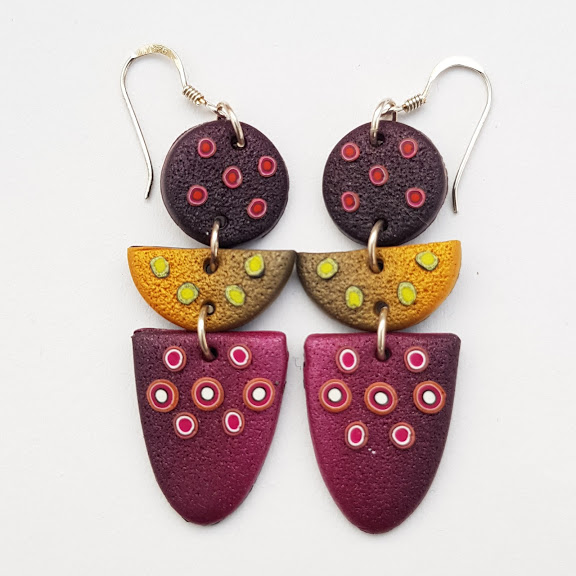 Very Berry Dotty Triple Dangles