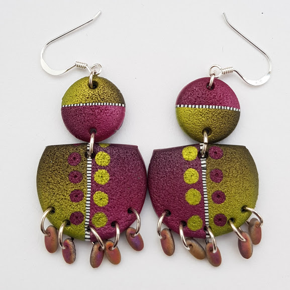 Damson & Lime Ethnic Style Chandelier Earrings