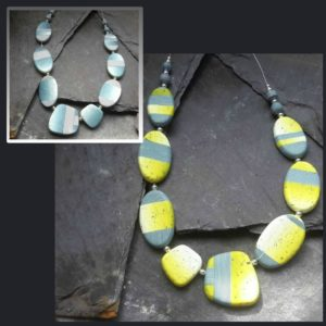 Multi-Wear Yellow/Blue Asymetric Necklace