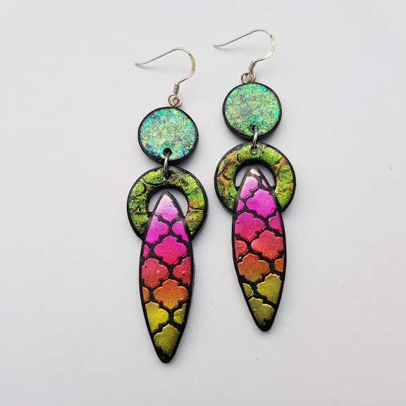 Encircled Spears-Marrakesh-Sundown Earrings