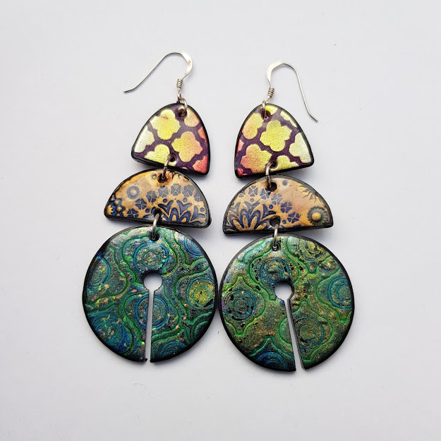 Marrakesh-Elements Keyhole Disc Drop Dangle-Earrings