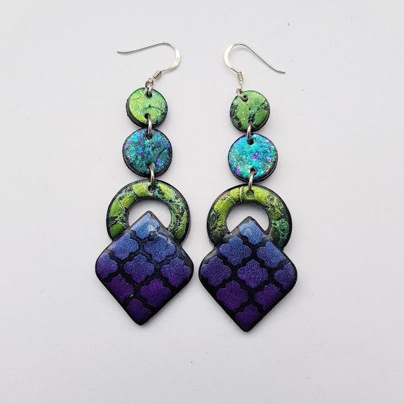 Geometric Drop Dangles-Marrakesh Nights Earrings