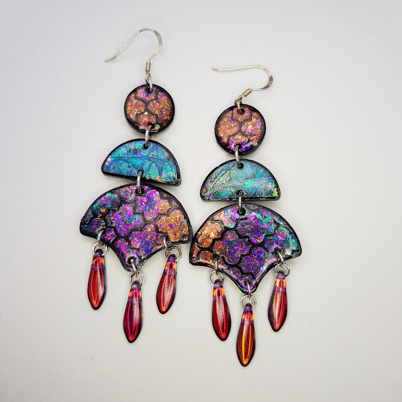 Marrakesh-Spice Trail Chandelier Dangle Earrings