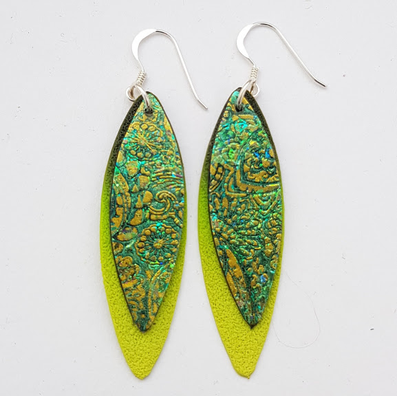 Paisley Double 'Leaf' Dangle Earrings