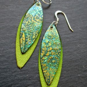 Paisley Double Marquise Dangle Earrings