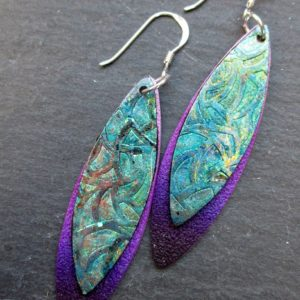 Violet Double Marquise Dangle Earrings