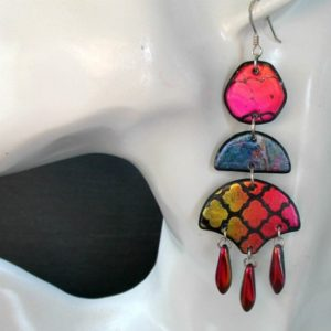Chandelier Drop Dangles-Marrakesh Sunset Earrings