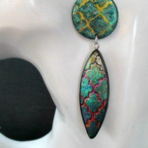 Marrakesh-Quatrefoil Double Drop Dangle-Earrings