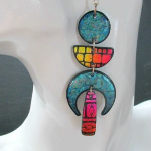 Crescent Drop Dangles-Marrakesh Night and Day Earrings