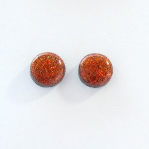 Holographic Copper Coloured Small Stud Earrings
