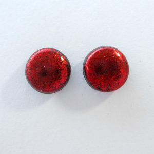 Bright Red Small Stud Earrings