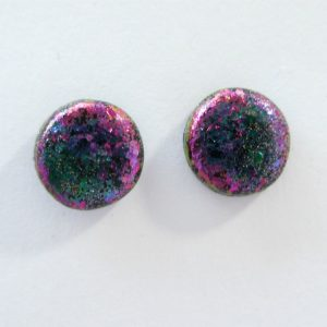 Small Stud Earrings in Blue-Purple Colour Change Design