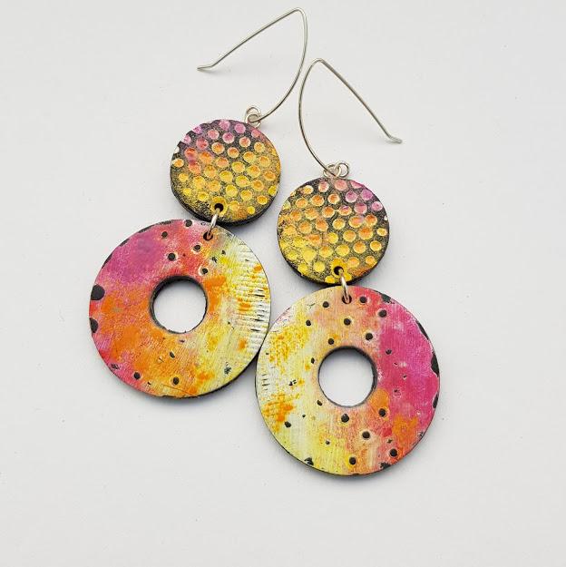 Summer Sunset Double Disc Earrings
