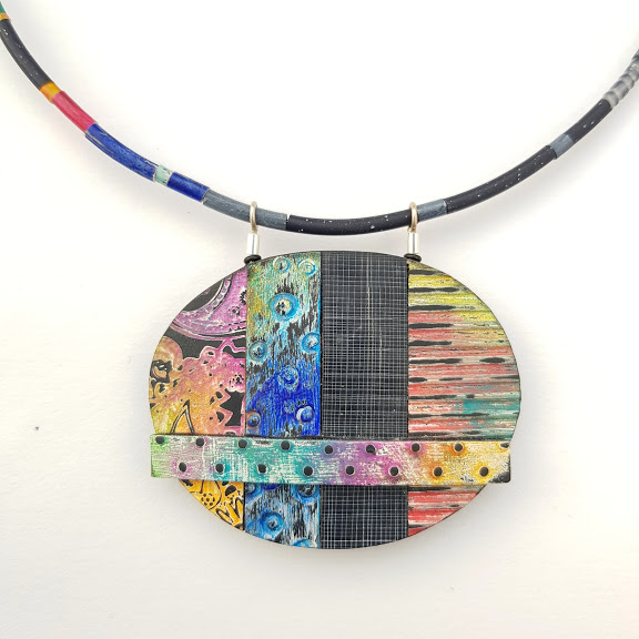 'On the Fence'- Art Pendant