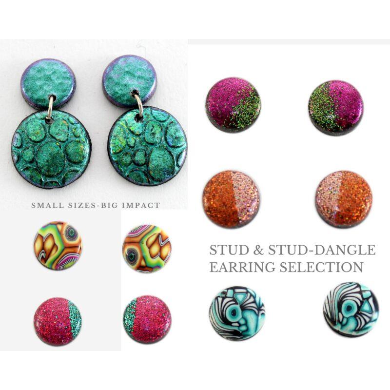 Stud & Stud Dangle Earring Selection