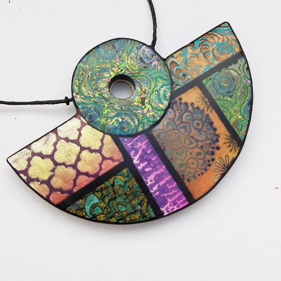 Marrakesh Half Disc Reversible Pendant