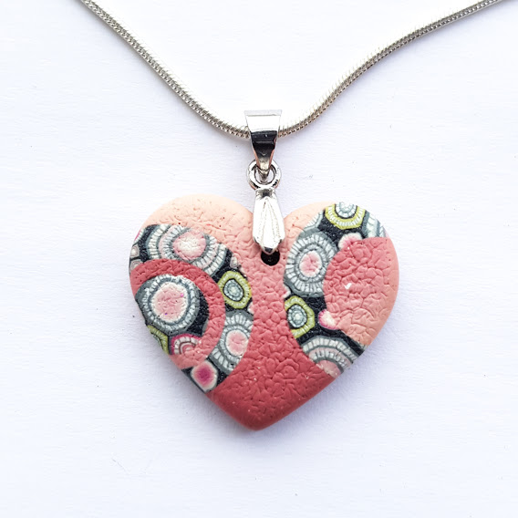 Circles in Circles Rosa Heart Pendant