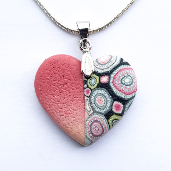Half & Half Heart Pendant