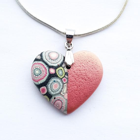 Deep Rosie Rosa Heart Pendant