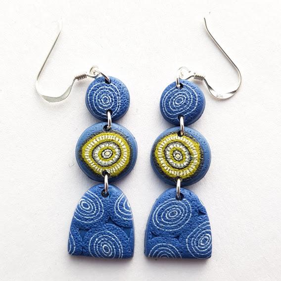 Delicate Triple Dangle Lime Pop Earrings