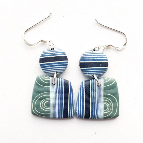 Geometric Double Drop Earrings