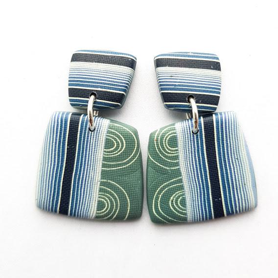 Maxi Geometric Stud Drop Earrings
