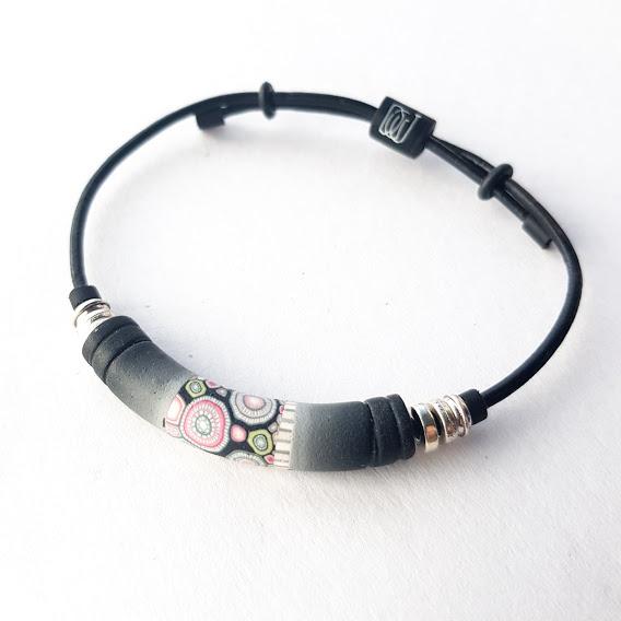 Rosa Noir Grooved Bracelet