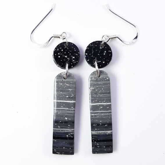 Faux Granite Super Slim Arched Dangles