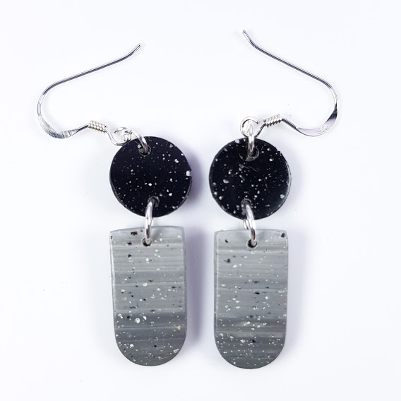 Faux Granite Inverted Arch Double Dangles